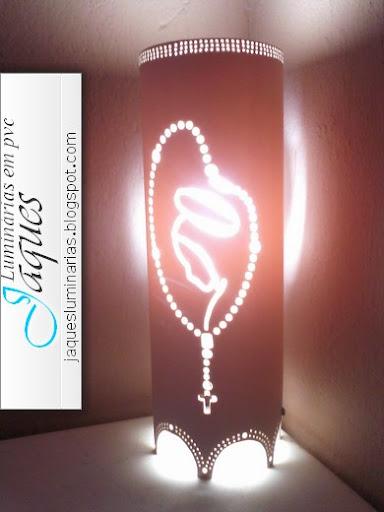 luminária de pvc  terço