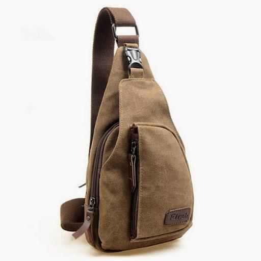 Men Messenger Bags Washed Canvas Travel Bag Chest Bag M
