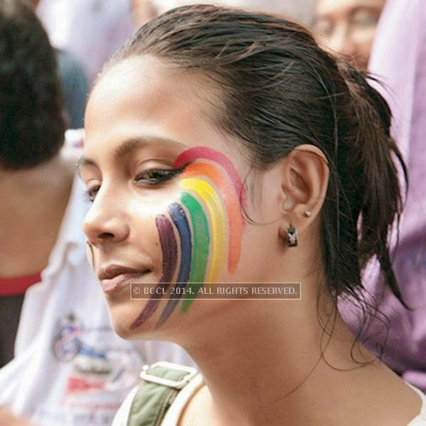 Koyel Majumder during the 13th edition of Kolkata Rainbow Pride Walk 2014, held in Kolkata.