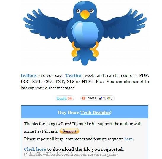 save tweet as pdf