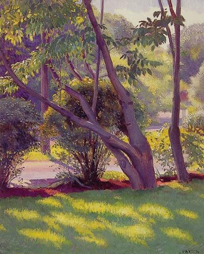 William McGregor Paxton - Lawn at Newton