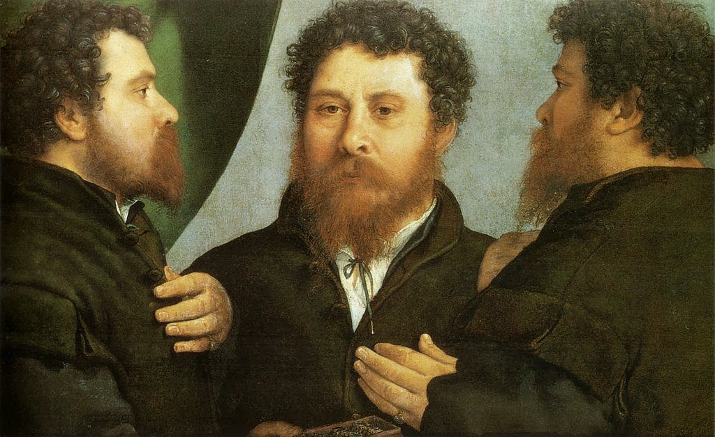 Lorenzo Lotto - Goldsmith seen from three sides