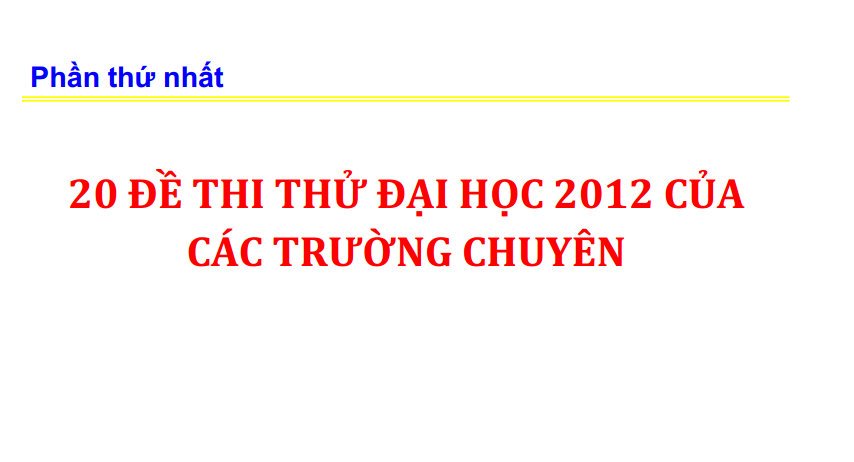 20 de thi thu dai hoc mon vat ly