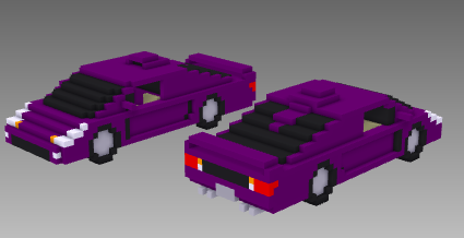 voxel car supercar