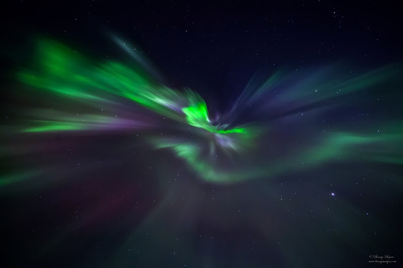 Coronas, Northern Lights in Norway, Photographer Benny Høynes