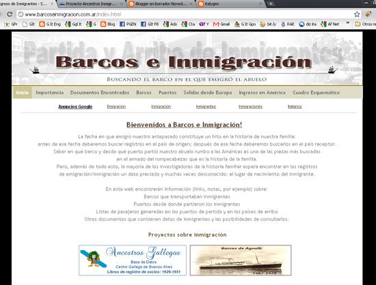 Nueva web barcos e inmigraci n el blog de ancestros - Todo sobre barcos ...