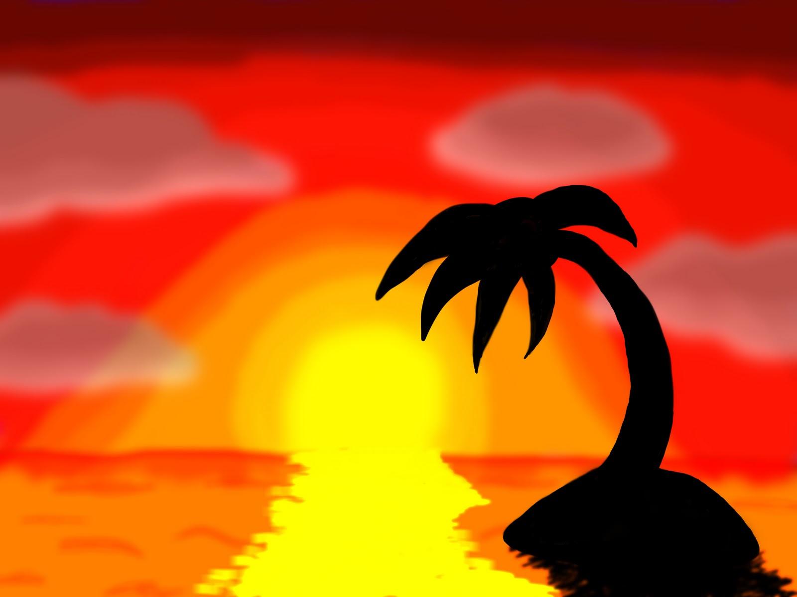 Philippe millette dessin coucher du soleil - Coucher de soleil dessin ...