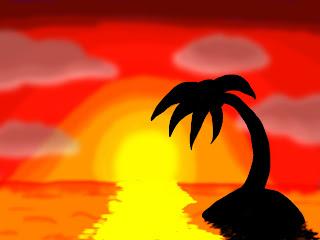 Philippe millette dessin coucher du soleil - Dessin du soleil ...