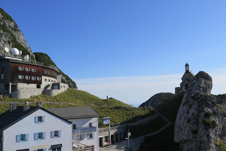 An der Bergstation des Wendelsteins