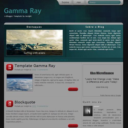 Gamma Ray,blogger,Templates for blogger
