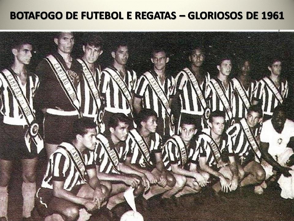 1961  Botafogo campeão de futebol estadual  f735aa7a6216d