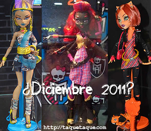 Monster High - Nuevas muñecas: Nefera de Nile, Arachne Jr. y Toralei Stripes