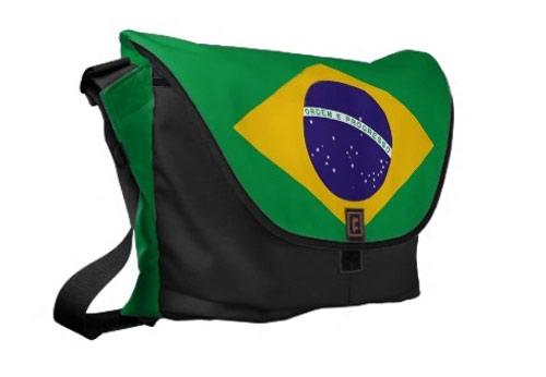 Inspiração Brasil - bolsa com bandeira do Brasil