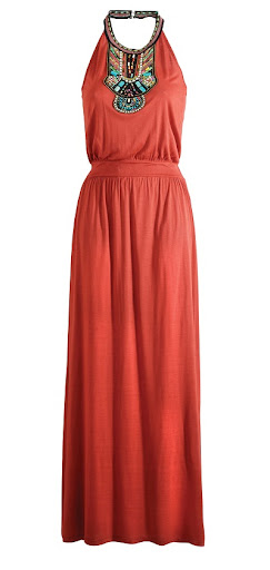 Matalan Halterneck Embroidered Maxi Dress