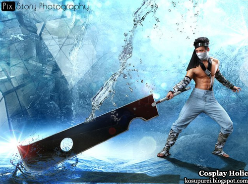 naruto cosplay - momochi zabuza 3 by kenneth