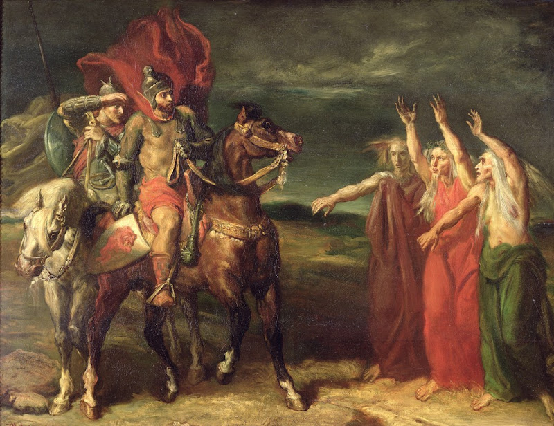 Théodore Chassériau - Macbeth and the Three Witches