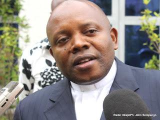 Abbé Apollinaire Malu Malu Muholongu le 04/06/2013 à Kinshasa. Radio Okapi/Ph. John Bompengo