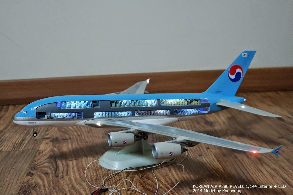 revell 1 144 a380 w interior for korean air version details