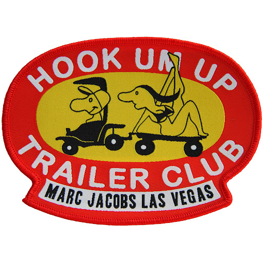Marc by Marc Jacobs Las Vegas Hook Um Up Trailer Club Embroidered Patch