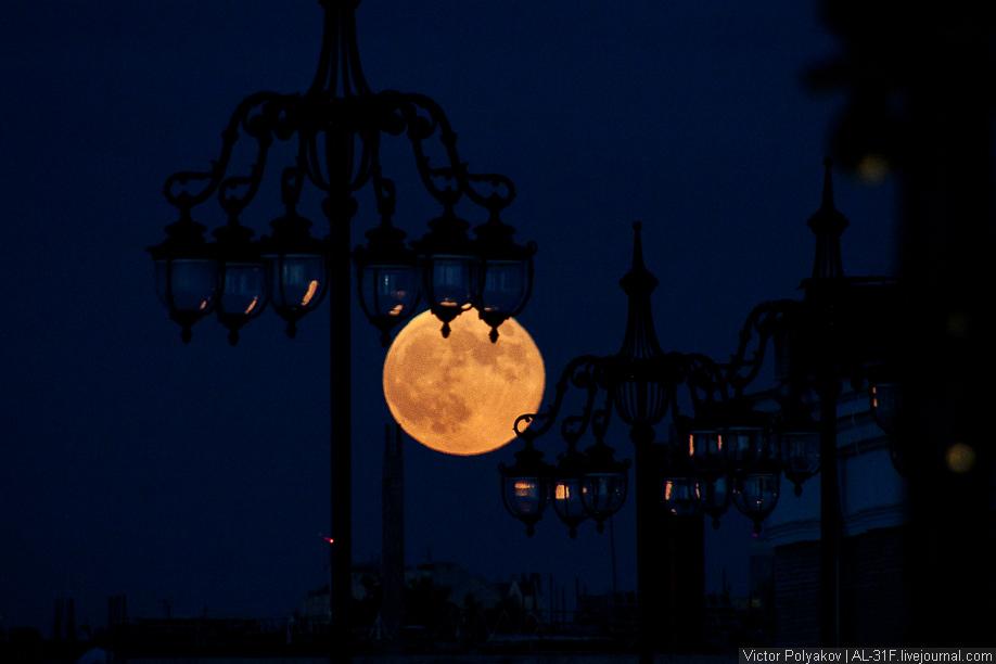 Суперлуние. Луна над Москвой