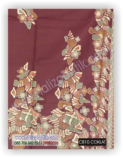 Grosir Batik, Baju Batik Seragam, Kain Batik, CB10 COKLAT