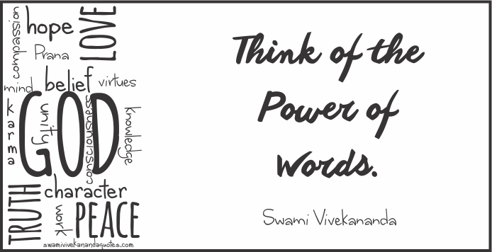Swami Vivekananda Meaningful Quotes on power of words
