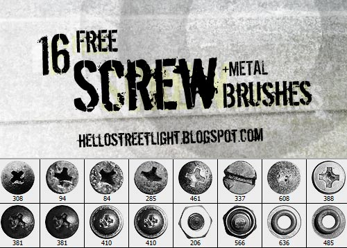 Free Screw Brushes for Photoshop