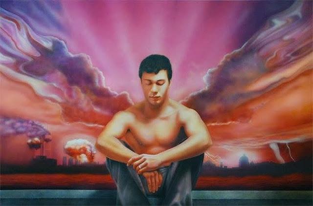 Pensamientos inquietantes, pintura del pintor Paco Yuste