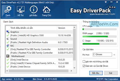 Download Easy Driver Pack v6.2.721 - Driver đa cấu hình Windows 8 - 10 64bit