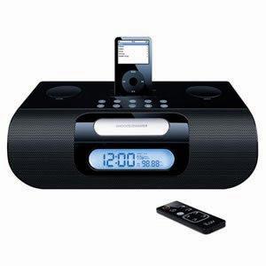 Jwin Stereo Radio Clock W/ Ipod - Black (jv-i-277bk) -