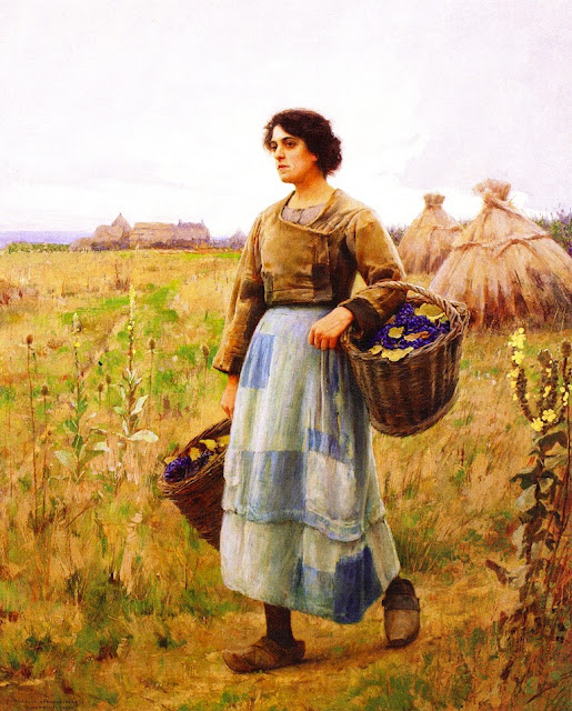 Charles Sprague Pearce - Girl with Grape Baskets