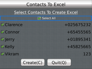 Contacts to Excel v3.2