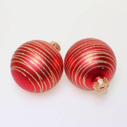 Glitzer Christbaumkugeln.2 Christbaumkugeln Glas Weihnachtskugeln Kugeln Ringel Aufdruck