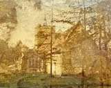 """""""Little Shelford Church before the restoration in 1879."""" From A Record Of Shelford Parva by Fanny Wale."""