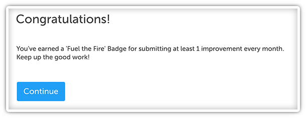 Notification for Badges