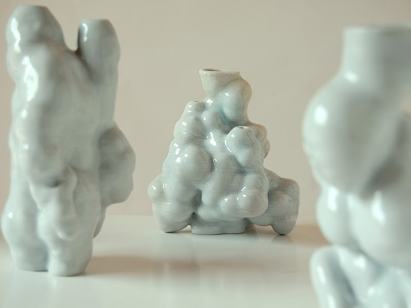 Jonathan Keep - Random Growth Series, 3D printed ceramics