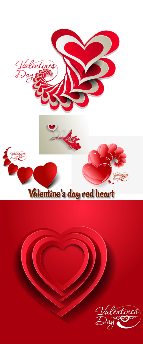 Stock: Valentine's day red hear