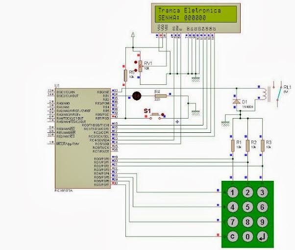 Tranca Eletrônica utilizando o PIC16F877A Tranca