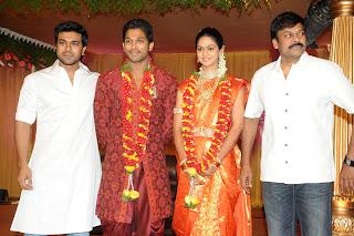 Allu Arjun and Sneha Reddy Marriage Reception for Fans