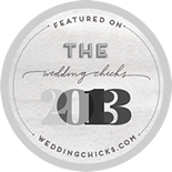 I was featured on The Wedding Chicks button