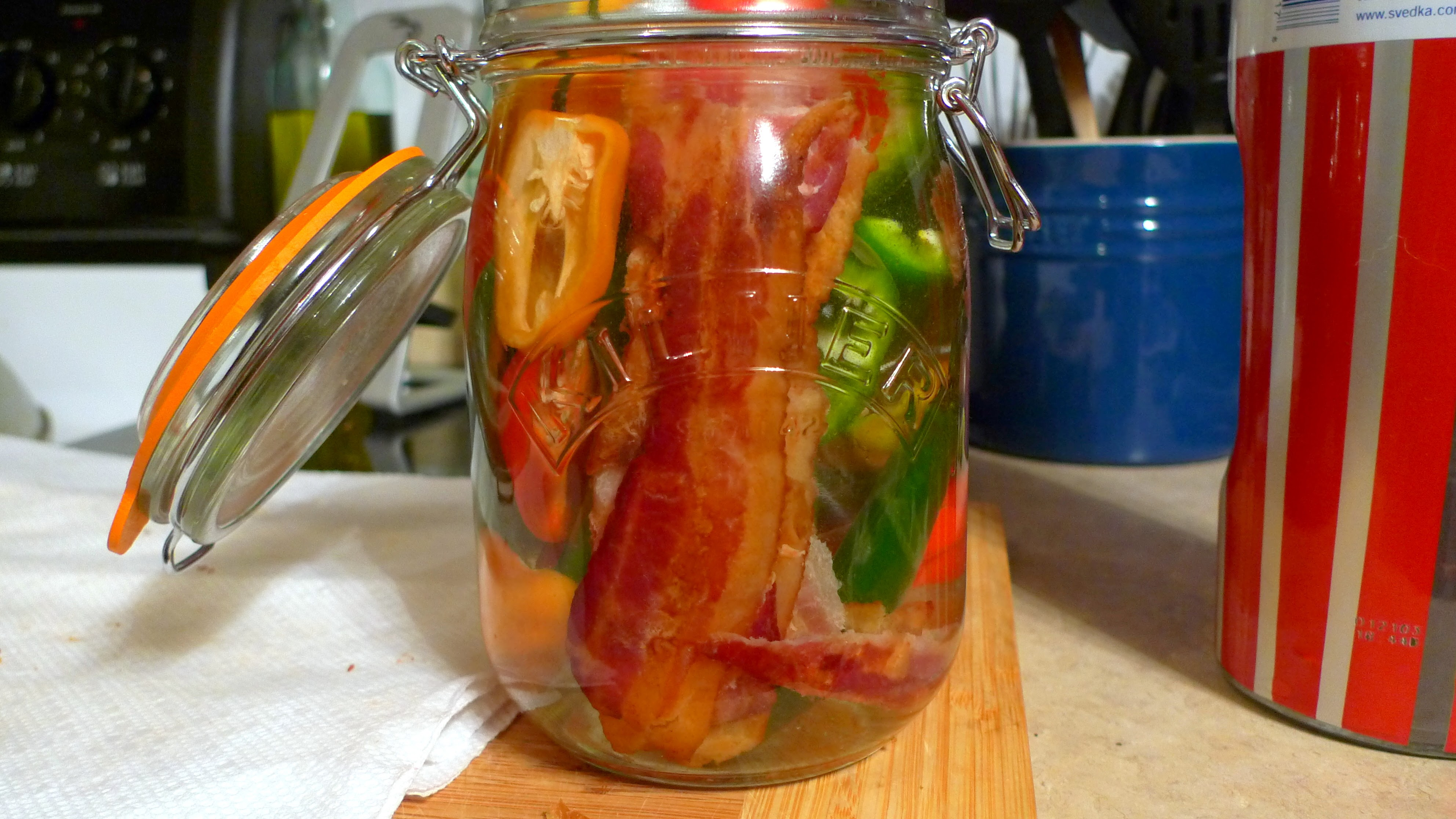 Bacon Habanero Infused Vodka