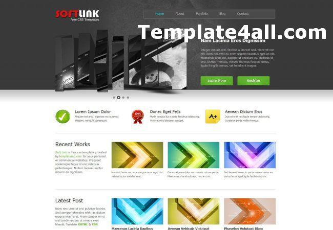 Professional Portfolio CSS website Template