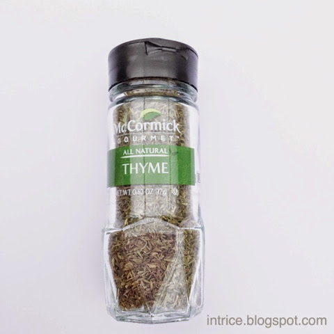 McCormick Gourmet Thyme - photo credit: intrice.blogspot.com