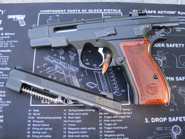CZ 75 D PCR Compact with a Kadet 22LR, at the range - The