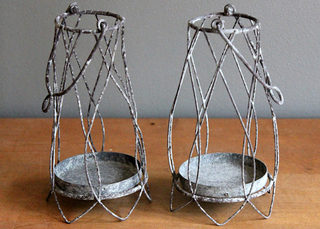 Zinc Votive Lanterns from the rental inventory of www.momentarilyyours.com | Kansas City Vintage Rentals