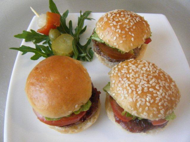 Mini hamburguesas de fiesta