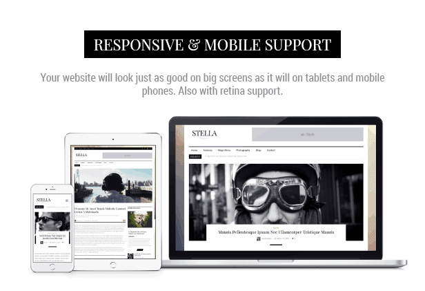 Responsive and mobile support