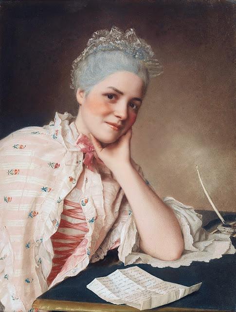 Jean-Etienne Liotard - Portrait of Mademoiselle Jacquet.