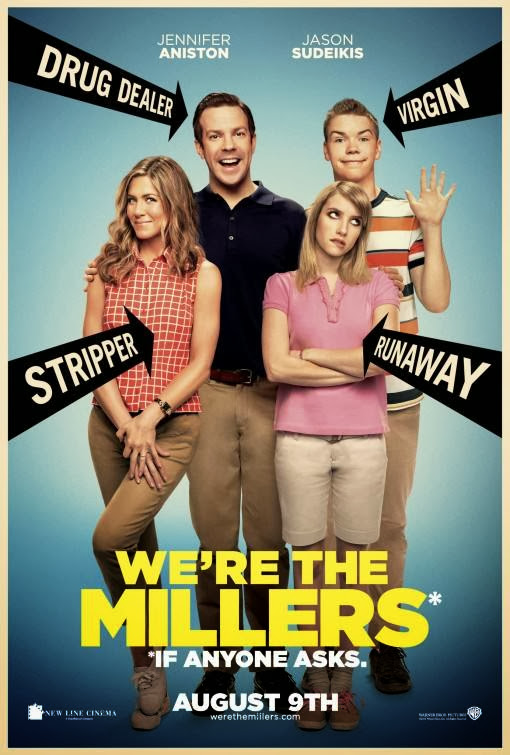 Poster Of English Movie We're the Millers (2013) Free Download Full New Hollywood Movie Watch Online At Alldownloads4u.Com