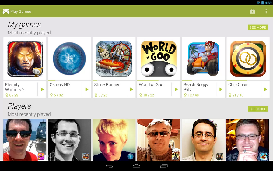 Google Play Freunde Adden